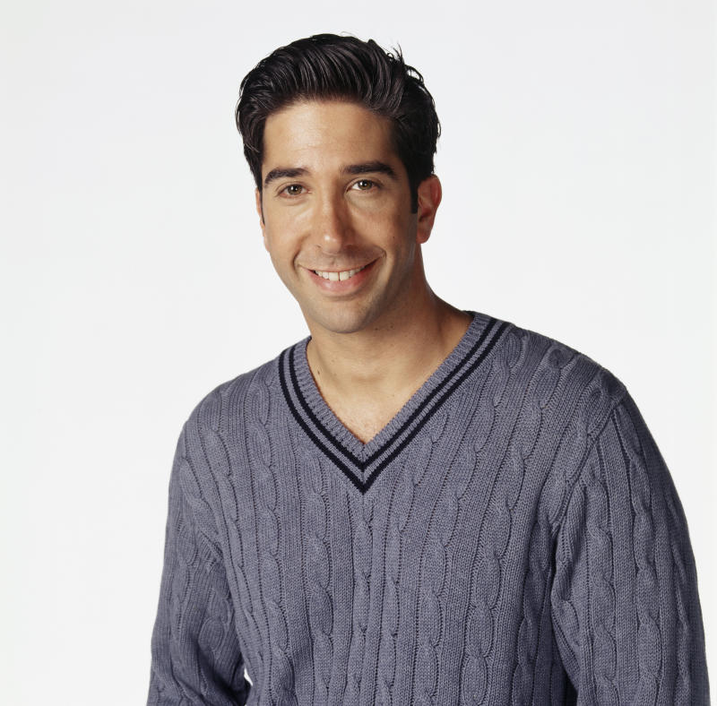 FRIENDS -- Pictured: David Schwimmer as Ross Geller (Photo by Jon Ragel/NBCU Photo Bank/NBCUniversal via Getty Images via Getty Images)