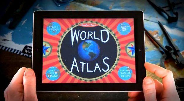 New atlas app invites children to take the world for a spin