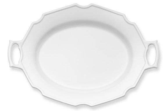 """<p>Inspired by antique and vintage china, this modern take on the serving platter makes for a subdued, classic flourish to any spread. Delicate in appearance, this dish is actually quite hard-working, with handles for easy carry.</p> <p><strong>Buy It</strong>: $79.95; <a href=""""http://williams-sonoma.7eer.net/c/249354/265127/4291?subId1=SL%2CRX_1710WilliamsSonomaPlatter%2Ckowen1271%2C%2CIMA%2C401888%2C201710%2CI&u=https%3A%2F%2Fwww.williams-sonoma.com%2Fproducts%2Fantique-white-platter-with-handle%2F"""" target=""""_blank"""">williams-sonoma.com</a></p>"""