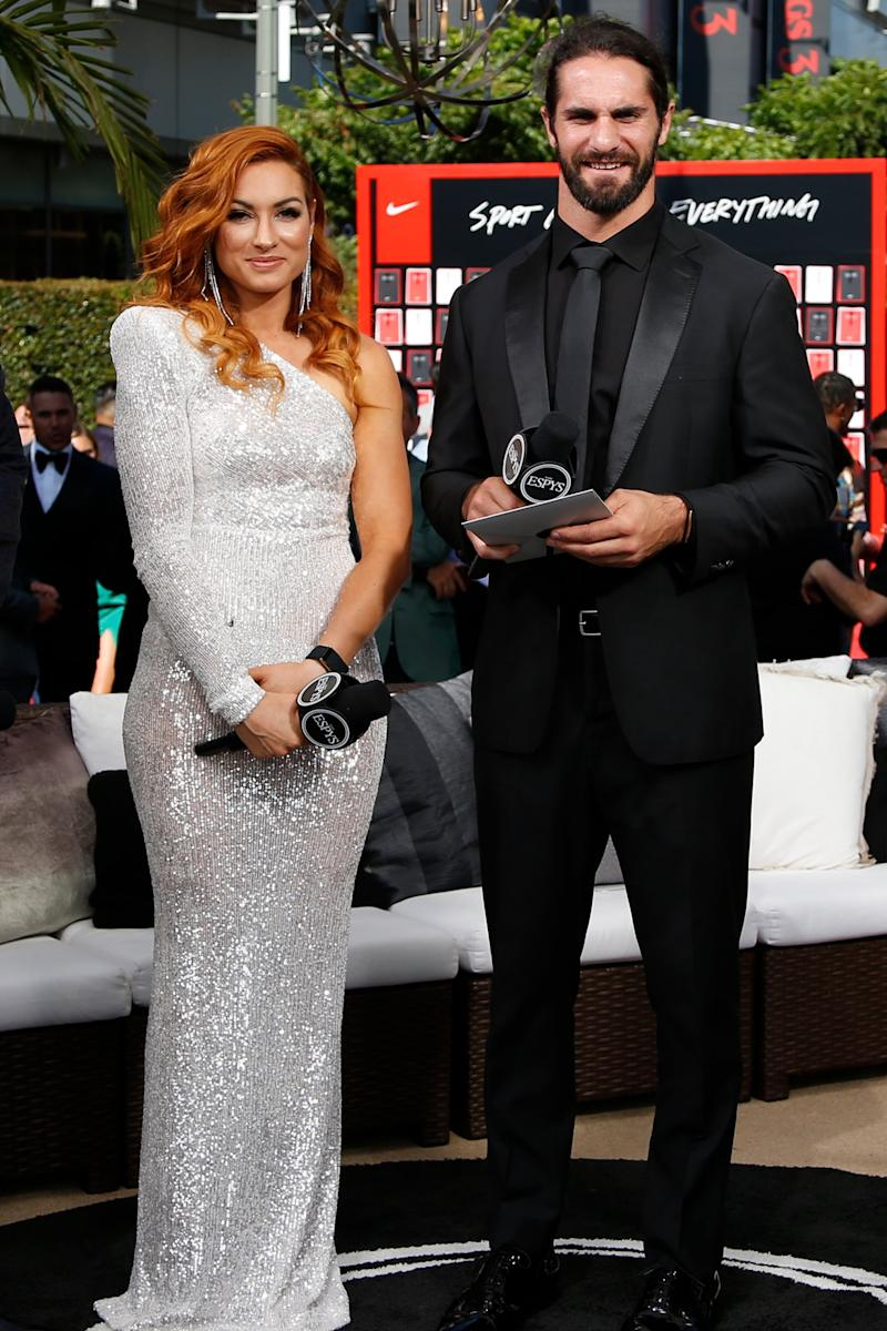 Only 'the Best': WWE Stars Becky Lynch and Boyfriend Seth Rollins Attend First ESPY Awards