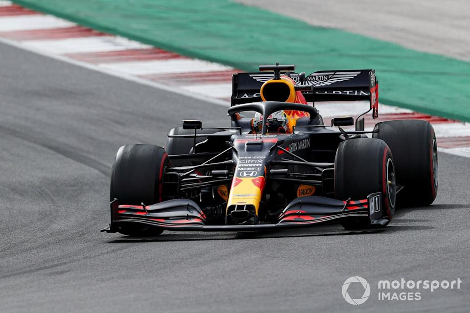 "Max Verstappen, Red Bull Racing RB16<span class=""copyright"">Sam Bloxham / Motorsport Images</span>"