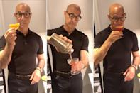 "<p>As social media fans can attest, it turns out the role of Tucci's lifetime is that of <a href=""https://people.com/food/stanley-tucci-shows-off-bartending-skills-to-make-a-negroni-for-his-wife/"" rel=""nofollow noopener"" target=""_blank"" data-ylk=""slk:making the perfect Negroni"" class=""link rapid-noclick-resp"">making the perfect Negroni</a> during quarantine. Bravo.</p>"