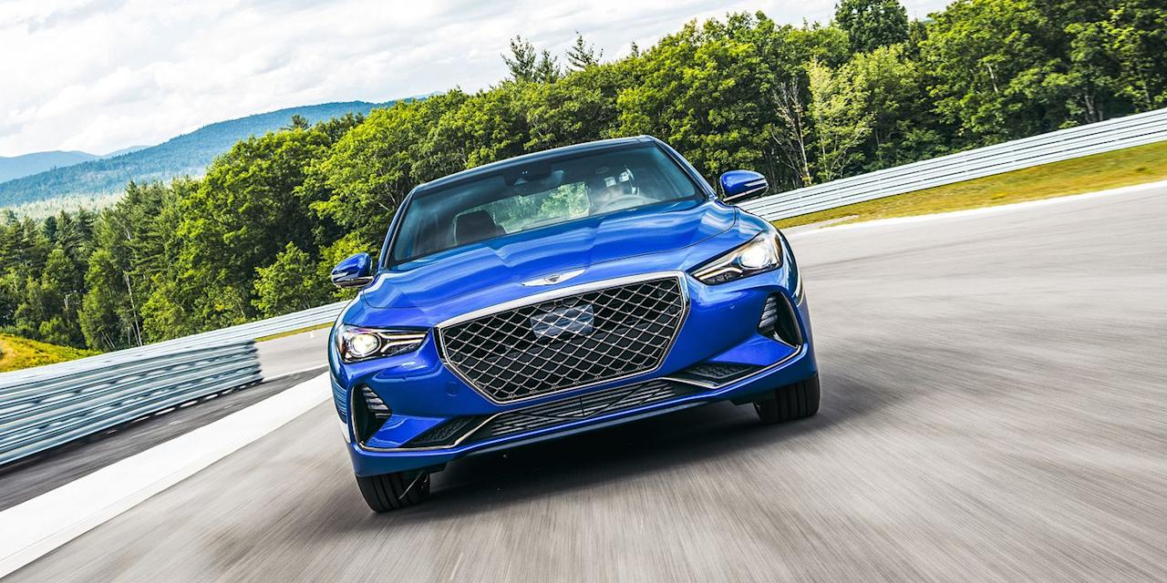 <p>The G70 is one of the most fun new sport sedans you can buy. You can even get it with a manual transmission. Strip out the interior and add some aero, and it should be a blast on track. </p>