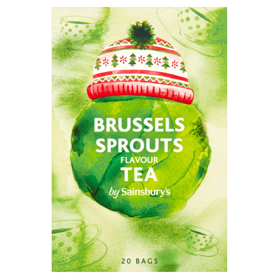 Do you dare to try the Brussels sprout flavoured tea? [Photo: Sainsbury's]