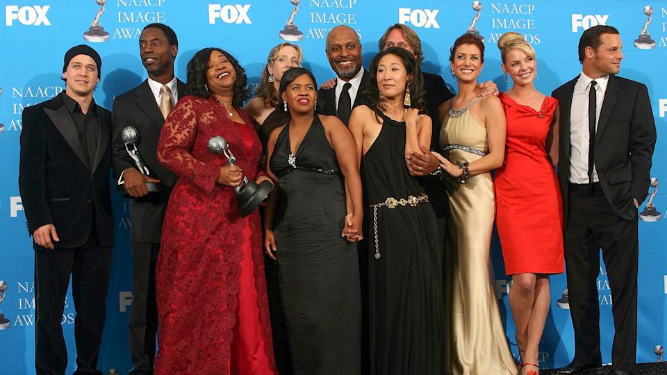 LOS ANGELES - FEBRUARY 25:  The cast of 'Grey's Anatomy' pose in the press room at the 37th Annual NAACP Image Awards at the Shrine Auditorium on February 25, 2006 in Los Angeles, California.