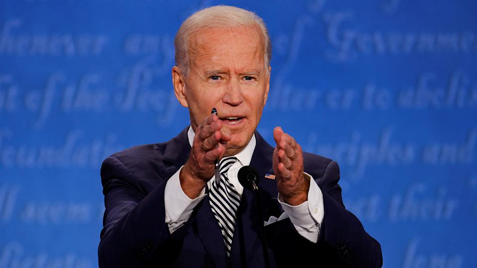 Joe Biden at the first presidential debate on Tuesday. (Brian Snyder/Reuters)