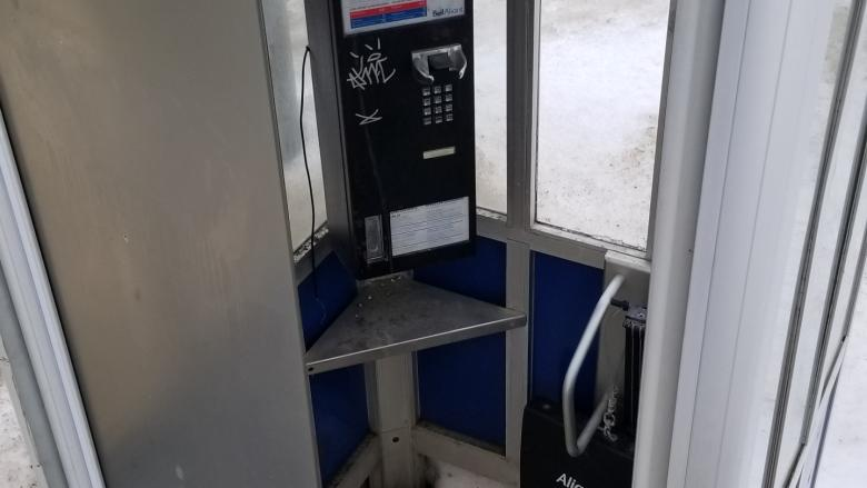 Fredericton's lonely phone booth