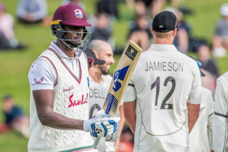 The West Indies are struggling for survival in the first Test against New Zealand