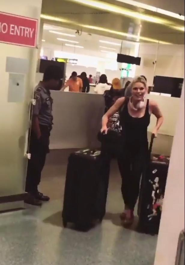 How long is she staying? She seems to have a lot of luggage on her! Source: Instagram