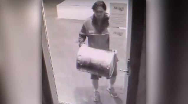 A man was caught on camera in a bizarre break-in. Photo: Supplied