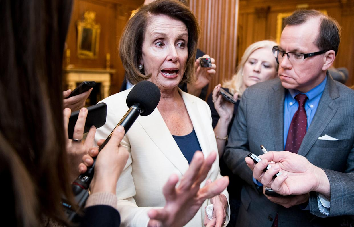 """House Minority Leader Nancy Pelosi (D-Calif.) has been going after Republicans for a""""culture of corruption, cronyism and incompetence."""" (Photo: Bill Clark/Getty Images)"""