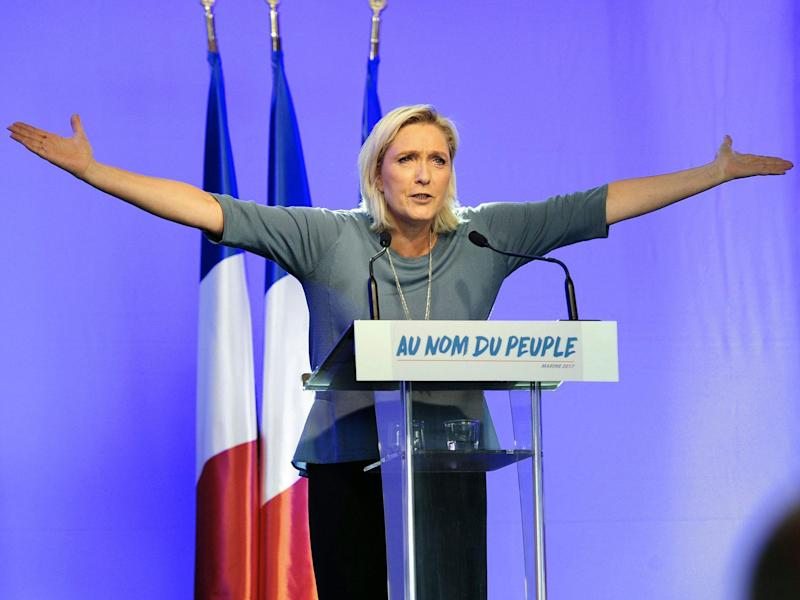 Marine Le Pen has reiterated her call to take France out of the euro: AFP/Getty