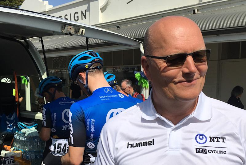 Bjarne Riis was at the Tour Down Under with NTT Pro Cycling