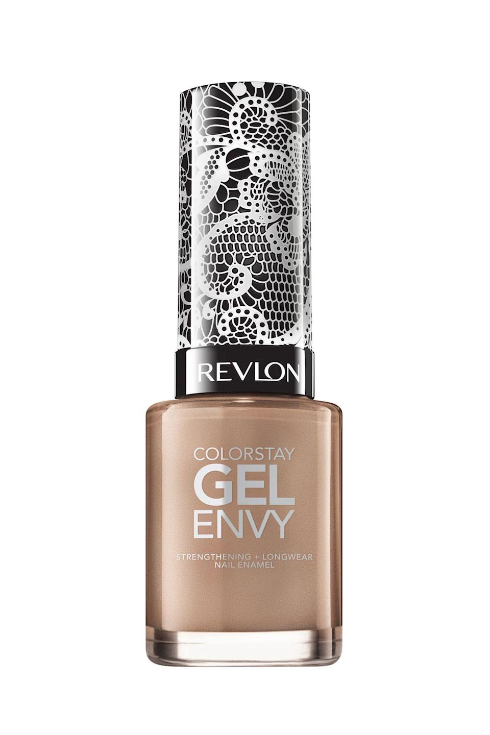 """<p><strong>Revlon</strong></p><p>amazon.com</p><p><strong>$8.99</strong></p><p><a href=""""https://www.amazon.com/dp/B07QG7K2WC?tag=syn-yahoo-20&ascsubtag=%5Bartid%7C10058.g.3310%5Bsrc%7Cyahoo-us"""" rel=""""nofollow noopener"""" target=""""_blank"""" data-ylk=""""slk:SHOP IT"""" class=""""link rapid-noclick-resp"""">SHOP IT</a></p><p>Relieve yourself from the daunting decision of deciding on a nail color and lean into a classic neutral. This shade is endorsed by a supermodel, Ashley Graham, in case you needed more confirmation that this color will give you runway-ready nails. Plus, this cool-toned nude will go with every outfit, and can you ask for anything more? </p>"""