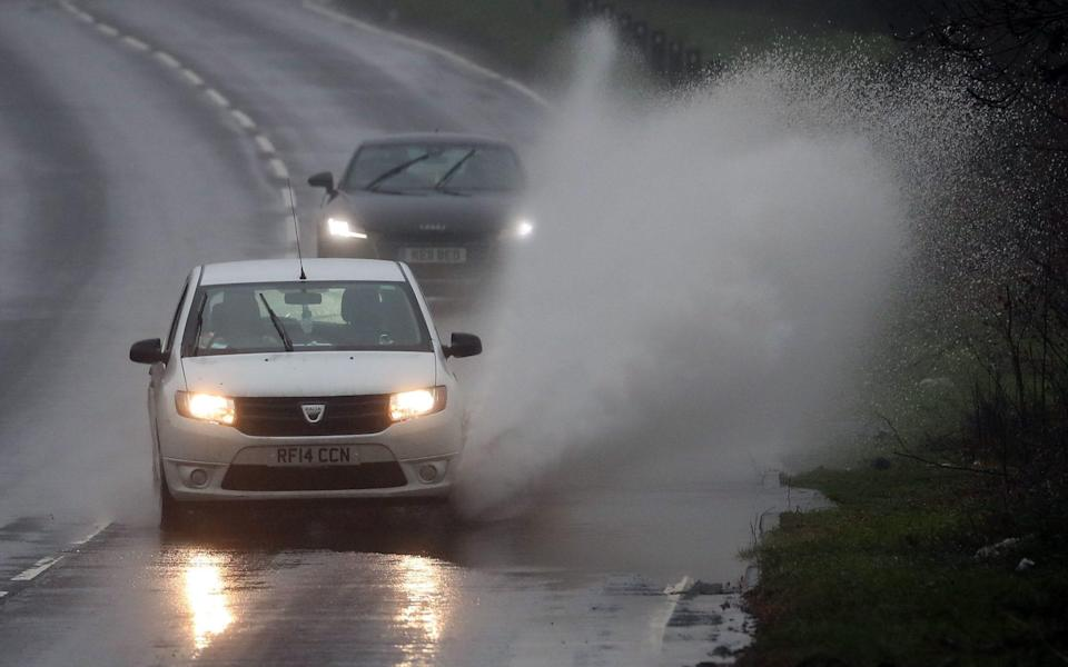 Heavy rain has caused some flooding in Canterbury, Kent - PA