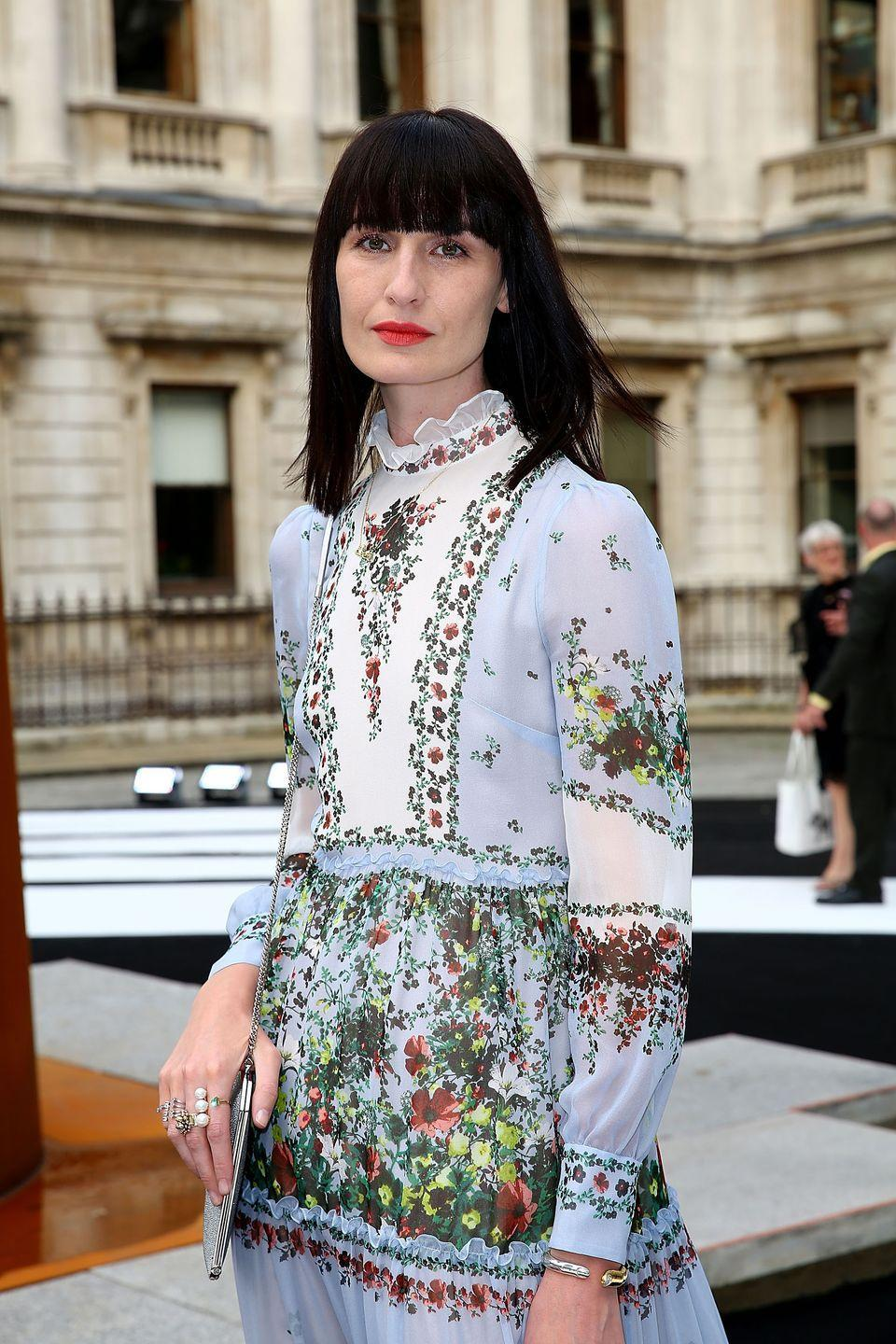 <p>Erin O'Connor's sharp, angled features could have made this blunt hair cut and fringe look too harsh, but as with most things the supermodel does, she pulls it off with panache. </p>