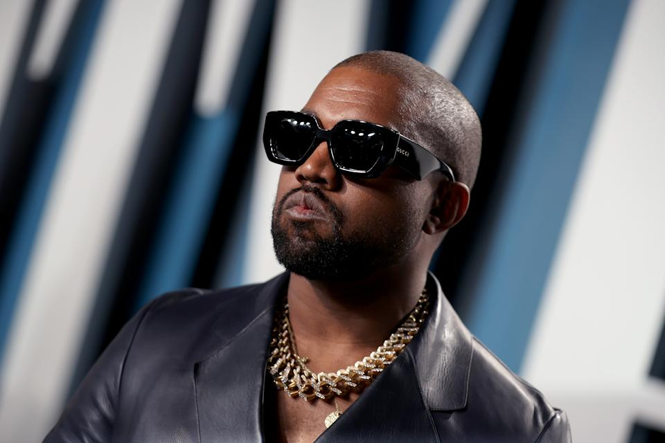 Rapper Kanye West, 43, took to Twitter on Saturday to send his best wishes to President Donald Trump and the first lady as they are treated for COVID-19. (Photo: Rich Fury/VF20/Getty Images for Vanity Fair)