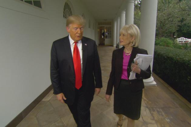 Trump releases raw video of '60 Minutes' interview he walked out on class=