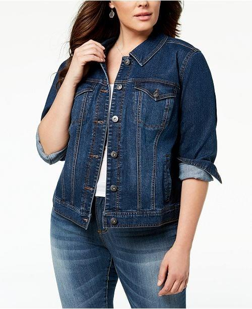 "<p>You can't go wrong with this <a href=""https://www.popsugar.com/buy/Style-amp-Co-Denim-Jacket-496271?p_name=Style%20%26amp%3B%20Co%20Denim%20Jacket&retailer=macys.com&pid=496271&price=74&evar1=fab%3Aus&evar9=46699597&evar98=https%3A%2F%2Fwww.popsugar.com%2Ffashion%2Fphoto-gallery%2F46699597%2Fimage%2F46699599%2FStyle-Co-Denim-Jacket&list1=shopping%2Cfall%20fashion%2Cfall%2Cjackets%2Ccurve%2Cmacys%2Ccurve%20fashion&prop13=mobile&pdata=1"" rel=""nofollow"" data-shoppable-link=""1"" target=""_blank"" class=""ga-track"" data-ga-category=""Related"" data-ga-label=""https://www.macys.com/shop/product/style-co-plus-size-denim-jacket-created-for-macys?ID=1869473&amp;CategoryID=46203&amp;swatchColor=Frisco"" data-ga-action=""In-Line Links"">Style &amp; Co Denim Jacket</a> ($74).</p>"