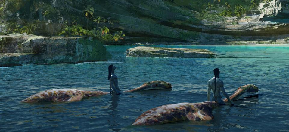 Close up detail of the new Avatar 2 concept art. (20th Century Fox)