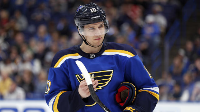 Brayden Schenn — like the Blues as a whole — is having a disappointing season. (AP Photo/Jeff Roberson, File)