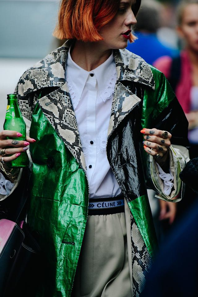 Street style during Fushion Oslo in Norway on Thursday, August 29th, 2019. Photograph by Adam Katz Sinding for <em>W</em> Magazine.