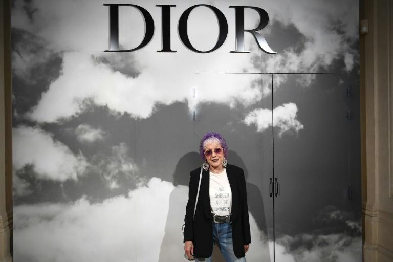"""I know it is a miracle that I am standing here given all the opposition I have faced"": US artist Judy Chicago at Dior last year (AFP Photo/Christophe ARCHAMBAULT)"