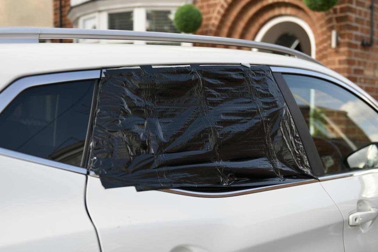 A furious dad has hit out after his local council refused to compensate him when a worker smashed his car window with a lawnmower - then tried to cover it up.  Jay Elton, 31, from Willerby, East Yorkshire, woke up on September 6 to find his car window shattered.  Caption: Jay Elton, from Willerby, East Yorkshire, whose car window was smashed by flying debris from a council lawnmower (MEN Media)