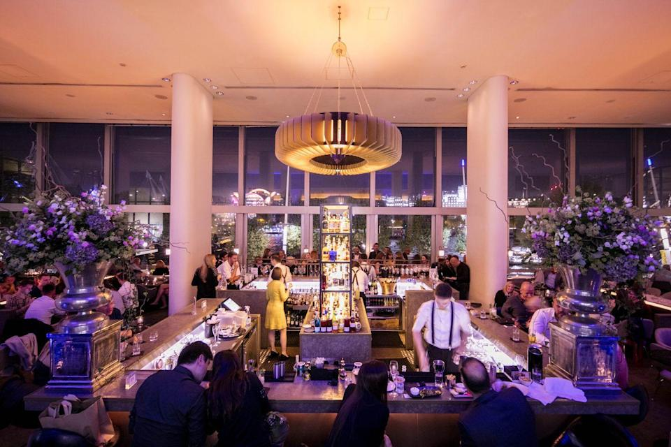 """<p><strong>Happy hour deal:</strong></p><p>The venue, found in the south bank's Royal Festival Hall, offers three cocktails at £7 each from 4-6pm on Monday to Friday.</p><p>Find out more <a href=""""https://www.skylon-restaurant.co.uk/"""" rel=""""nofollow noopener"""" target=""""_blank"""" data-ylk=""""slk:here"""" class=""""link rapid-noclick-resp"""">here</a>.</p>"""