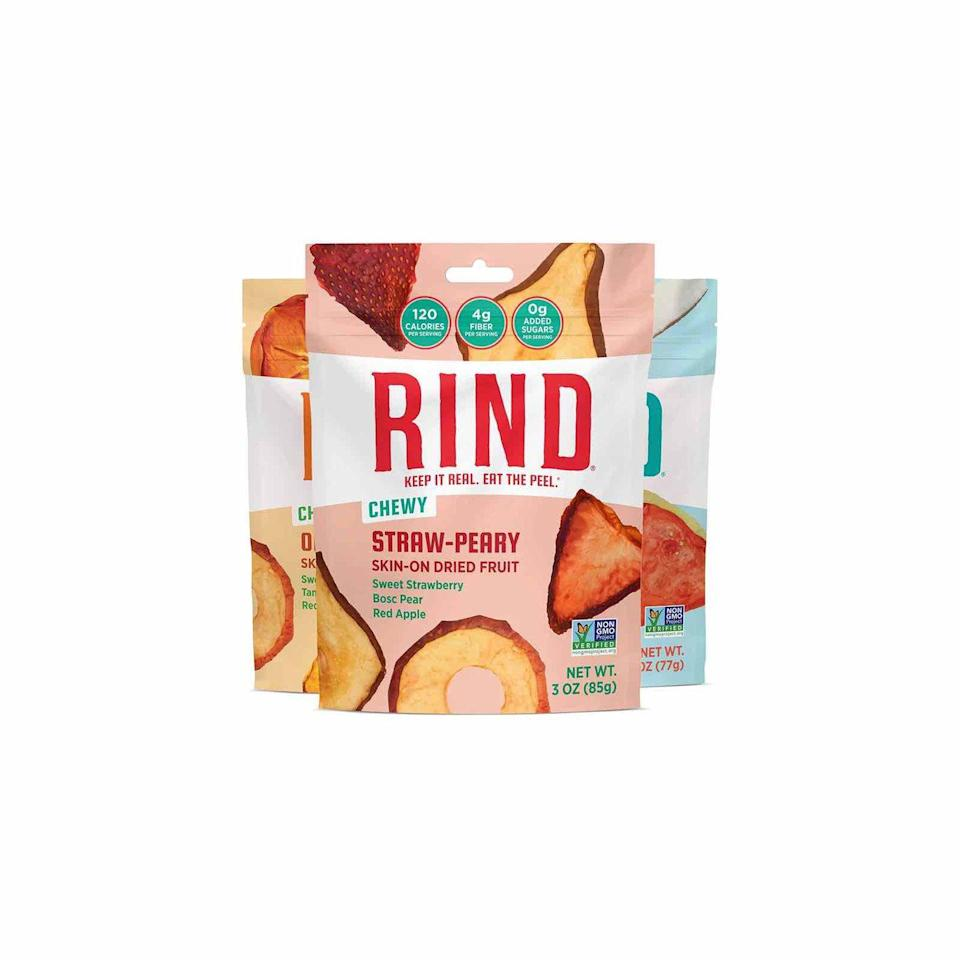"""<p>For a snack that will keep you full longer, try RIND. It's jam-packed with fiber, plus peels contain a nice amount of antioxidants that can ultimately help reduce your risk of many diseases, says <a href=""""http://daragodfreynutrition.com/"""" rel=""""nofollow noopener"""" target=""""_blank"""" data-ylk=""""slk:Dara Godfrey"""" class=""""link rapid-noclick-resp"""">Dara Godfrey</a>, MS, RD.</p><p><a class=""""link rapid-noclick-resp"""" href=""""https://www.amazon.com/RIND-Snacks-Peel-Powered-Antioxidant-Rich-Gluten-Free/dp/B079NR8718?tag=syn-yahoo-20&ascsubtag=%5Bartid%7C10072.g.27072697%5Bsrc%7Cyahoo-us"""" rel=""""nofollow noopener"""" target=""""_blank"""" data-ylk=""""slk:SHOP NOW"""">SHOP NOW</a></p>"""
