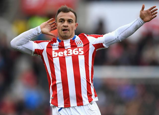 "<a class=""link rapid-noclick-resp"" href=""/soccer/players/xherdan-shaqiri/"" data-ylk=""slk:Xherdan Shaqiri"">Xherdan Shaqiri</a> is just one of many talented attackers at Stoke's disposal. Will the Potters rebound this season? (Getty)"