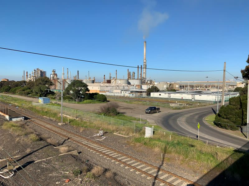 FILE PHOTO: Exxon Mobil Corp's Altona refinery is seen on the outskirts of Melbourne