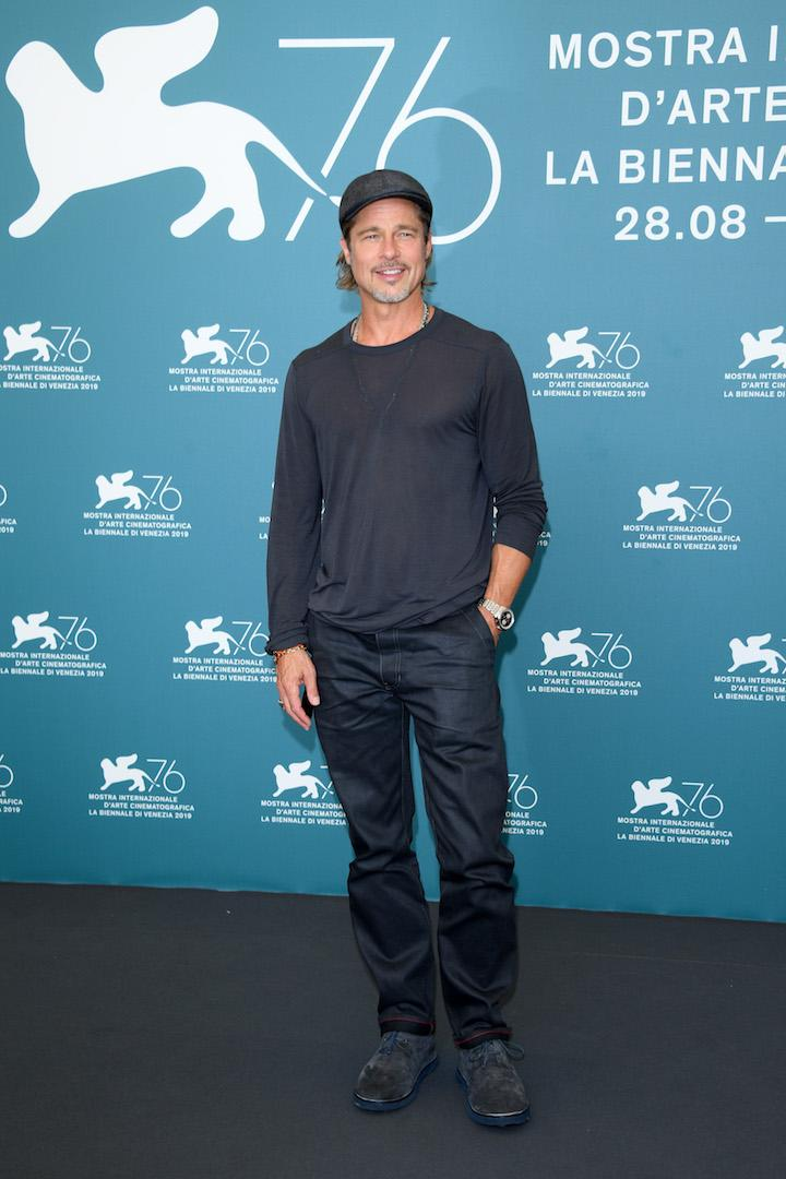 Brad Pitt pleased fans across the globe, as he arrived on the red carpet for the starry 'Ad Astra' photo call. <em>[Photo: Getty]</em>