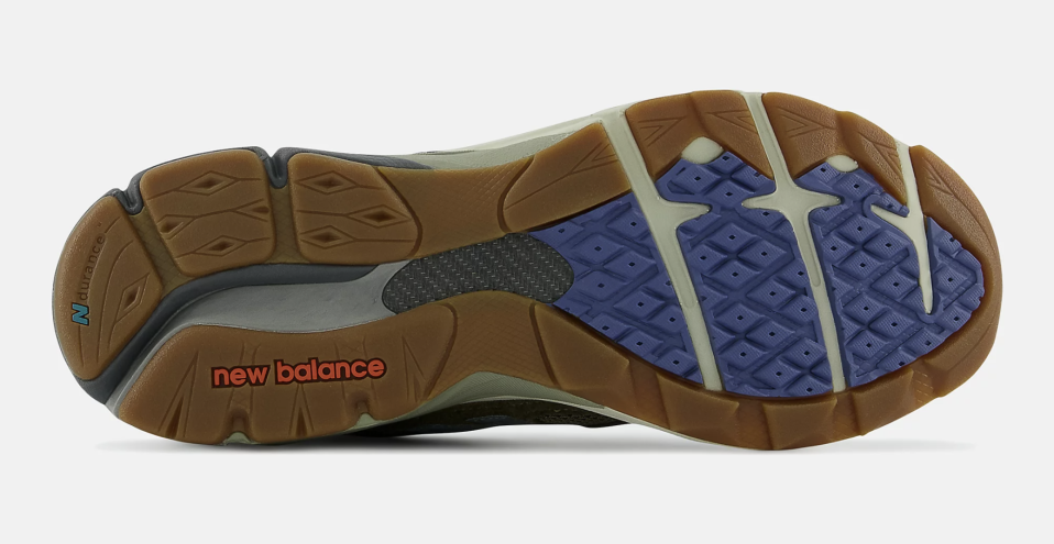 """The outsole of the Bodega x New Balance 990v3 """"Anniversary"""" collab. - Credit: Courtesy of New Balance"""