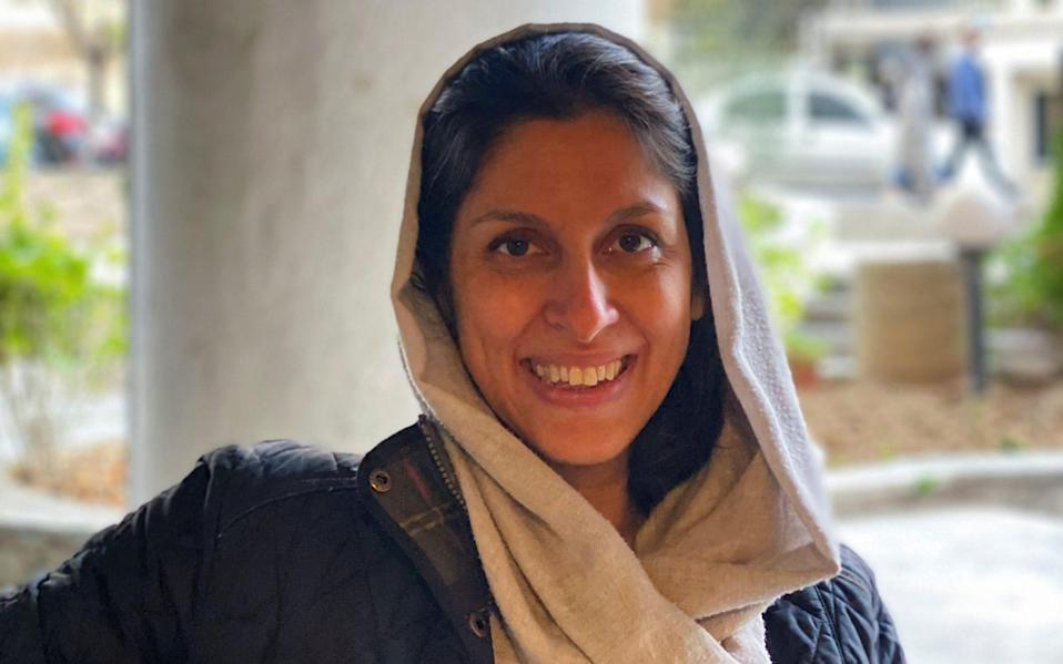 British-Iranian charity worker Nazanin Zaghari-Ratcliffe poses for a photo after she was released from house arrest in Tehran - WANA NEWS AGENCY via Reuters