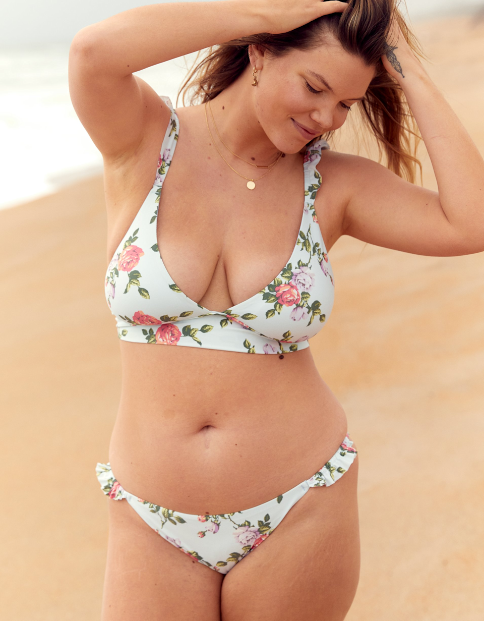 """<h2>Aerie</h2><br><br><strong>Aerie</strong> Printed Ruffle Tie Longline Triangle Bikini Top, $, available at <a href=""""https://go.skimresources.com/?id=30283X879131&url=https%3A%2F%2Fwww.ae.com%2Fus%2Fen%2Fp%2Faerie%2Fbikini-tops%2Ftriangle-bikinis%2Faerie-printed-ruffle-tie-longline-triangle-bikini-top%2F0752_3065_592%3Fmenu%3Dcat4840006"""" rel=""""nofollow noopener"""" target=""""_blank"""" data-ylk=""""slk:Aerie"""" class=""""link rapid-noclick-resp"""">Aerie</a><br><br><strong>Aerie</strong> Printed Ruffle Bikini Bottom, $, available at <a href=""""https://go.skimresources.com/?id=30283X879131&url=https%3A%2F%2Fwww.ae.com%2Fus%2Fen%2Fp%2Faerie%2Fbikini-bottoms%2Fclassic-bikini-bottoms%2Faerie-printed-ruffle-bikini-bottom%2F1753_3272_592"""" rel=""""nofollow noopener"""" target=""""_blank"""" data-ylk=""""slk:Aerie"""" class=""""link rapid-noclick-resp"""">Aerie</a>"""