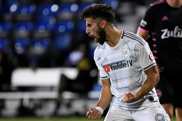 Los Angeles FC striker Diego Rossi's goals have fired his team into the quarter-finals of the Major League Soccer restart tournament