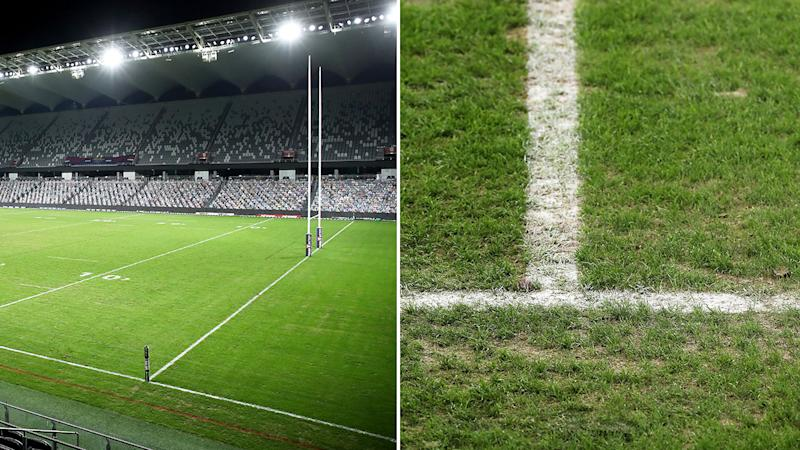 The turf at Bankwest Stadium is being re-laid before the start of round eight in the NRL.