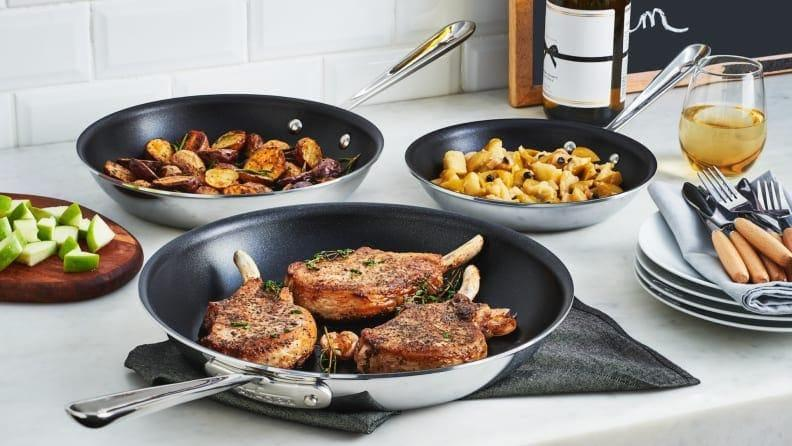 The All-Clad 10-inch nonstick pan was the quickest to warm up and provided the most even heating of all the nonstick pans we tested.