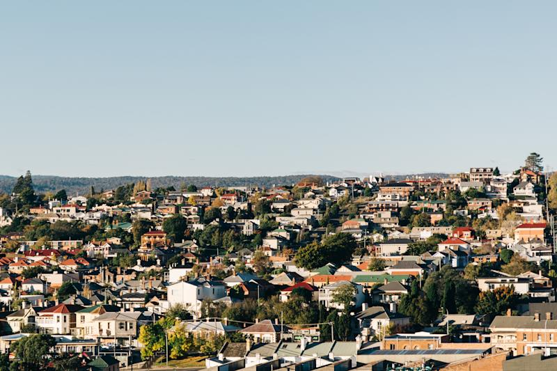 Pictured: Aerial view of Launceston. Image: Getty