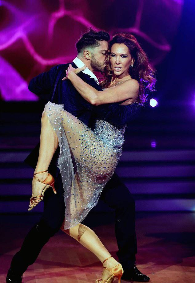 Kyly Clarke stunned in a racy Dancing With The Stars outfit for the show's finale on Sunday night. Photo: Seven
