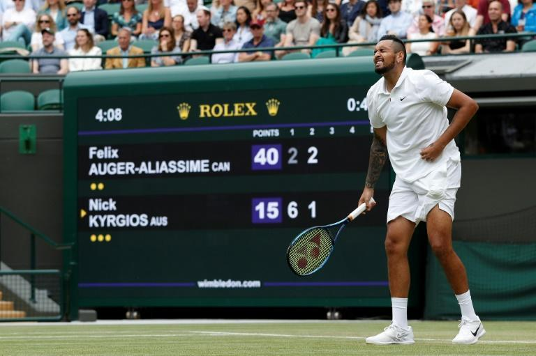 Nick Kyrgios forgot his shoes prior to his third round match at Wimbledon and then retired with an abdominal injury that summed up a terrible day for Australian men with three bowing out