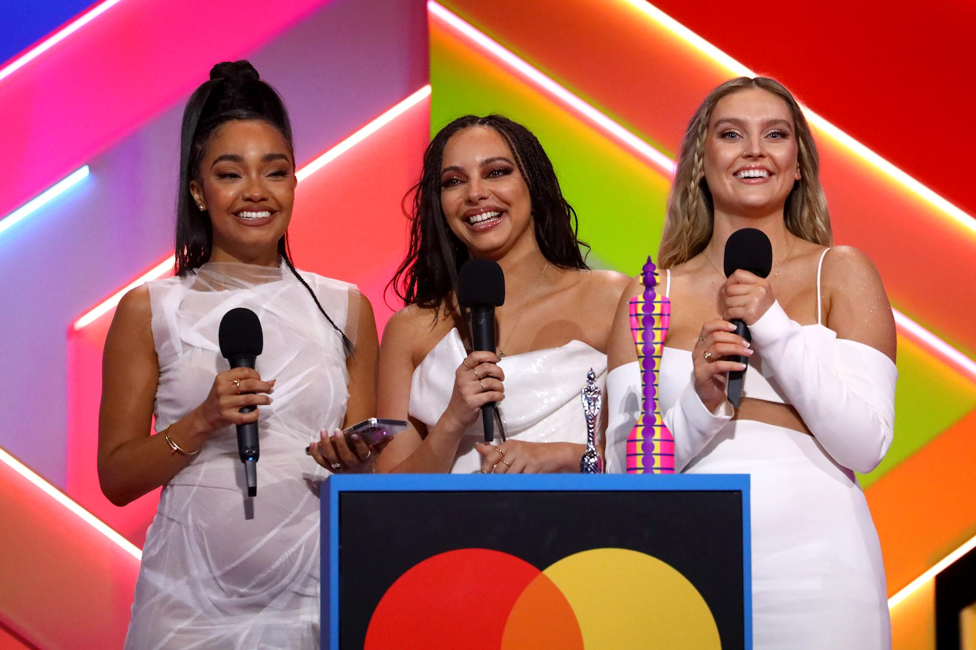 Perrie Edwards says The Saturdays were cut from Little Mix Brits speech in awkward Mollie King exchange