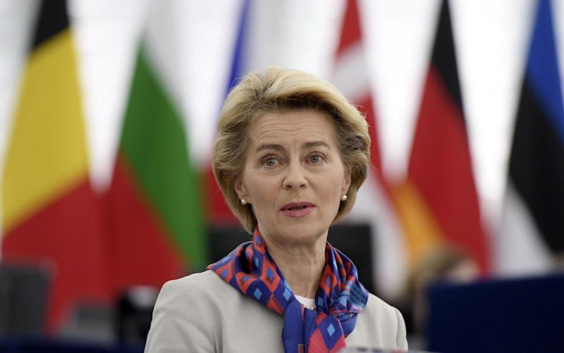 Ms von der Leyen is facing scrutiny over her time as German defence minister - AFP
