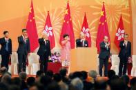 71st anniversary of the founding of People's Republic of China, in Hong Kong