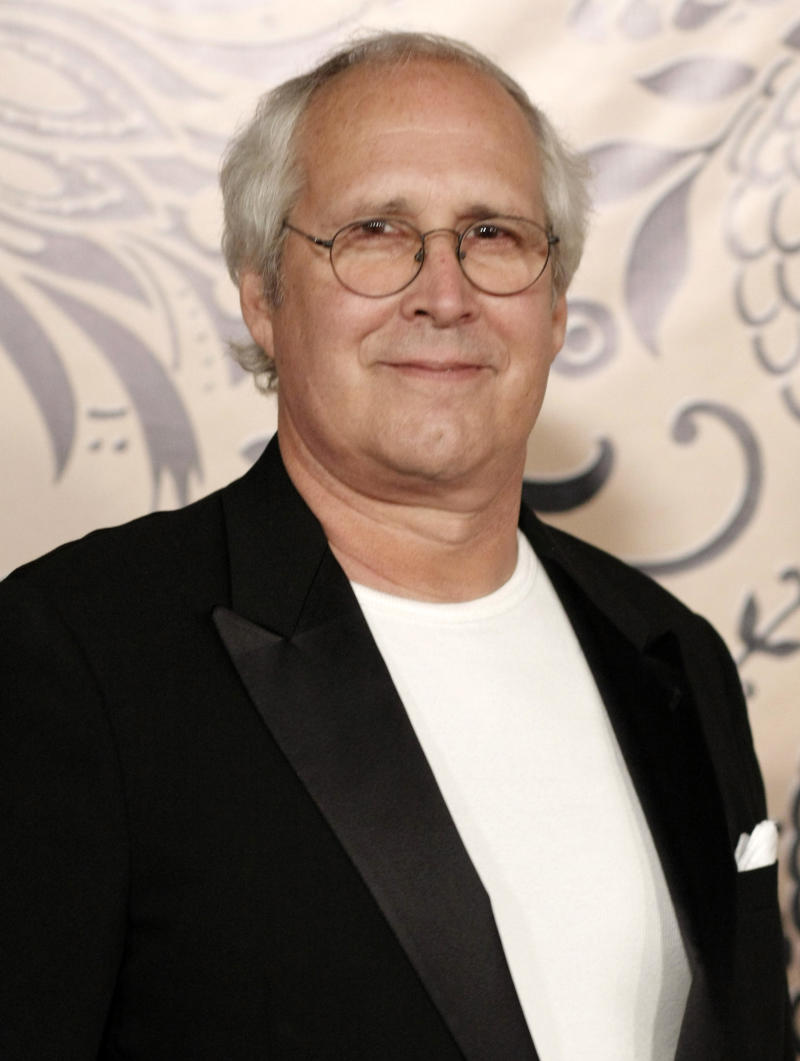 In this Sept. 20, 2009 file photo, actor Chevy Chase arrives at the HBO Emmy Party in West Hollywood, Calif. (AP Photo/Dan Steinberg, file)
