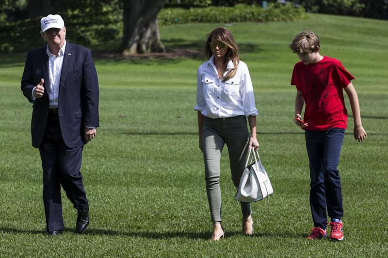 Melania has revealed in a statement her family is her first priority. Photo: Getty
