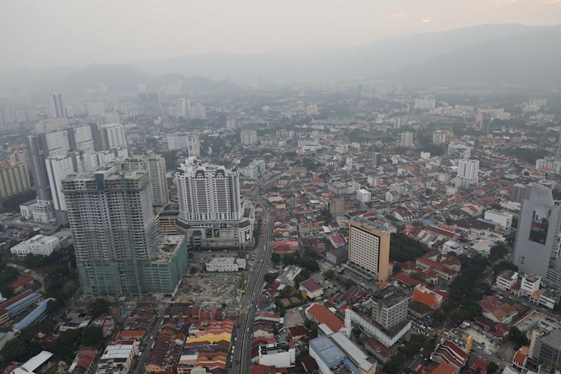 A general view of the George Town skyline, September 20, 2019. — Reuters pic