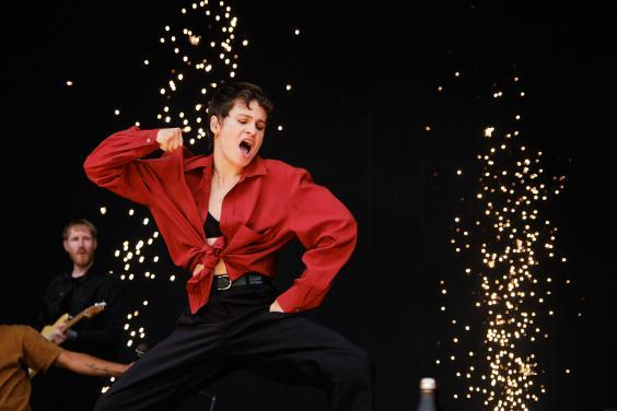 Christine and the Queens performs at Oya Festival 2019 (press)