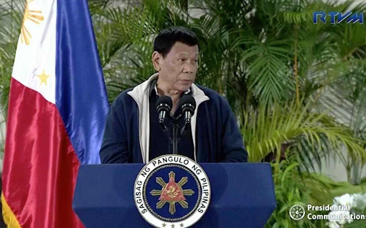 Rodrigo Duterte says that a ban on Filipino workers from heading to Kuwait that's been in effect since February will now be permanent - RTVM